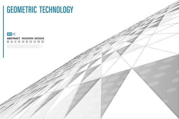 Fundo de perspectiva abstrata triângulo de tecnologia