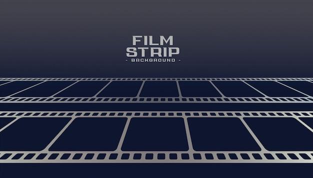 Fundo de perspectiva de bobina de tira de filme de cinema