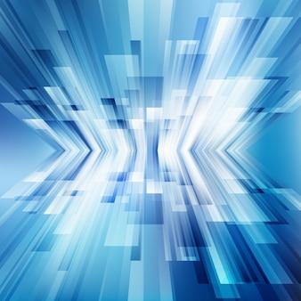 Fundo de perspectiva de linhas azuis geométricas abstratas