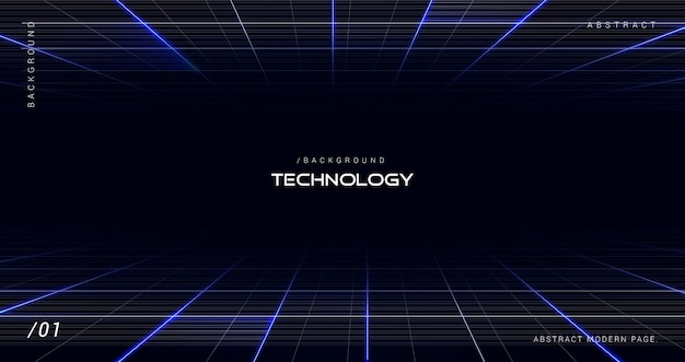 Fundo de perspectiva de tecnologia digital escuro