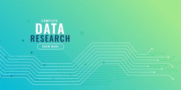 Fundo de pesquisa de dados com diagrama de circuito