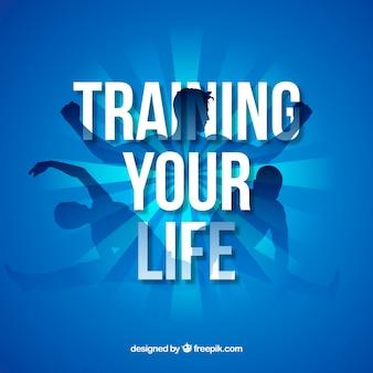 Fundo de pessoas treinando para ficar saudável