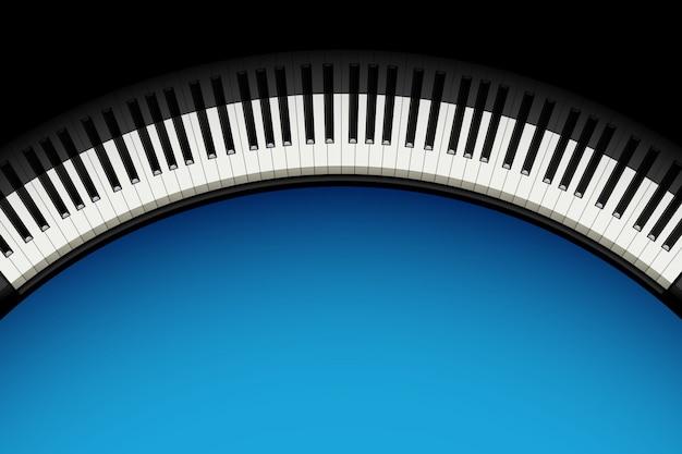 Fundo de piano com copyspace