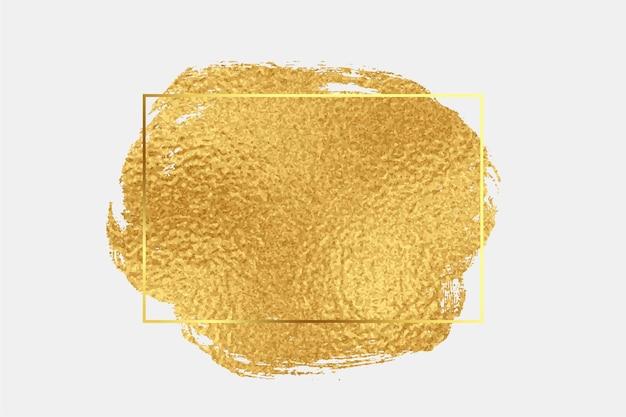 Fundo de pincelada com textura de folha dourada