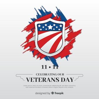 Fundo de pinceladas de dia dos veteranos