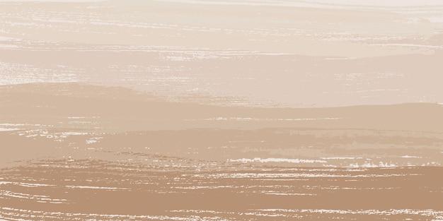 Fundo de pintura abstrata bege e papel de parede pincel de pintura de vetor gráfico