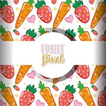 Fundo de pixel de fruta