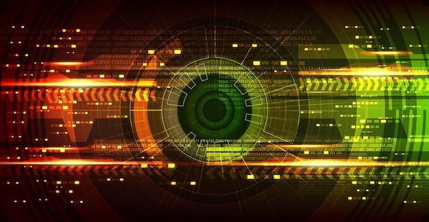Fundo de placa de circuito do futuro olho cyber tecnologia