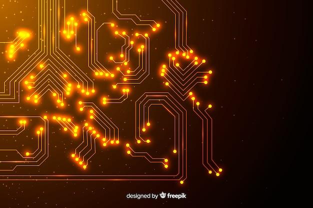 Fundo de placa de circuito gradiente abstrata