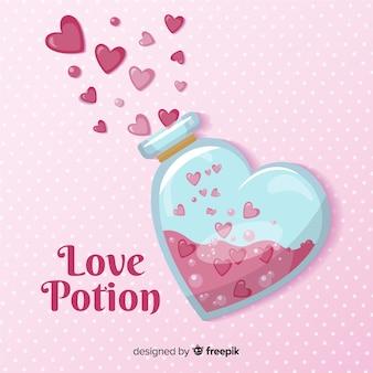 Fundo de poção de amor