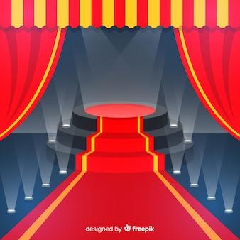 Fundo de pódio de palco com iluminação