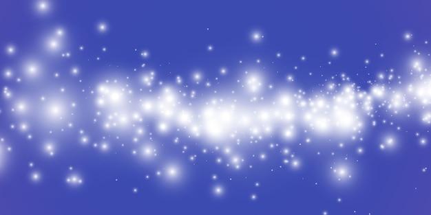 Fundo de poeira mágica cintilante, pequenas partículas de poeira cintilante e estrelas