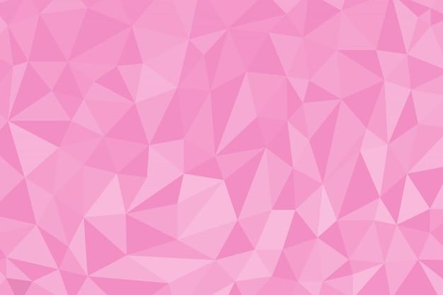 Fundo de polígono abstrato cor-de-rosa