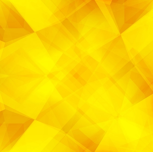 Fundo de polígono amarelo brilhante