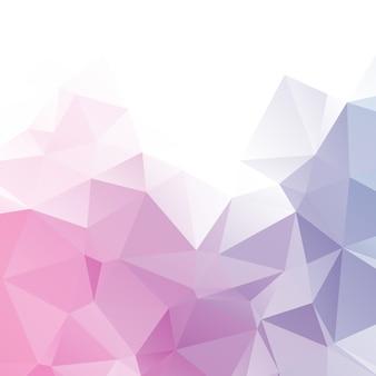 Fundo de polígono de cor abstrata