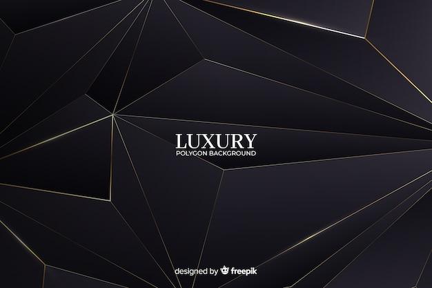 Fundo de polígono de luxo