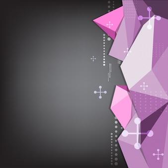 Fundo de polígono do triângulo abstrato