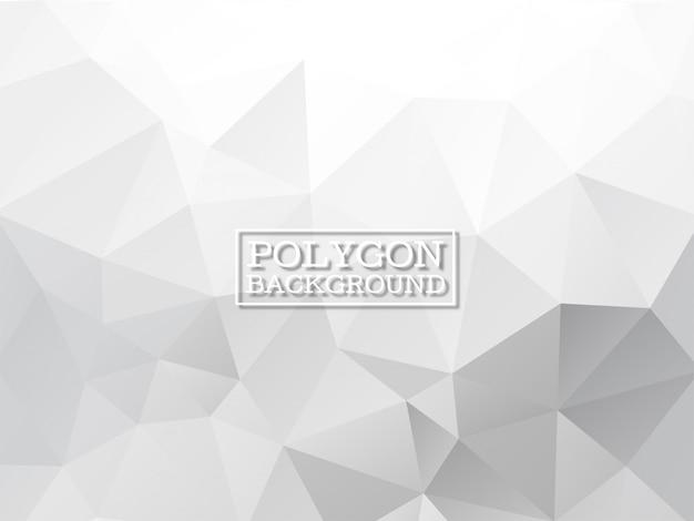 Fundo de polígono geométrico de cor cinza