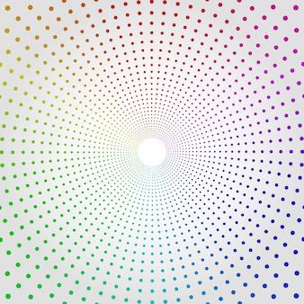 Fundo de pontos de meio-tom colorido círculo apontador