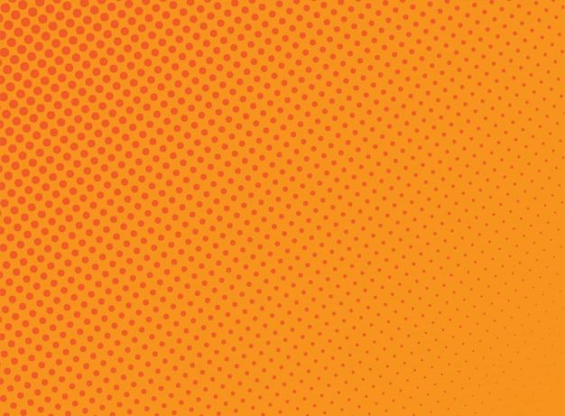 Fundo de pontos de meio-tom laranja