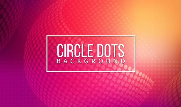 Fundo de pontos do círculo