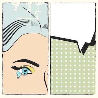 Fundo de pop art, ilustração em formato vetorial