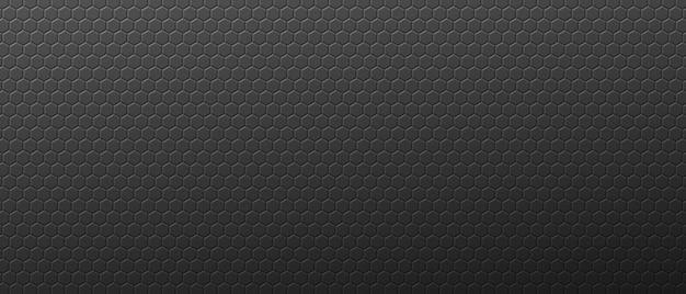 Fundo de porca de hexágonos abstratos de gradiente engrenagens geométricas cinzentas com ornamento techno