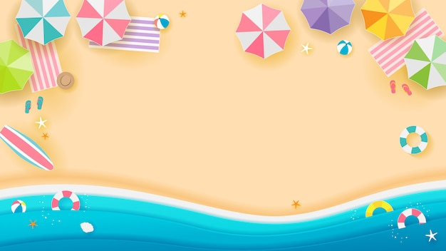 Fundo de praia de verão