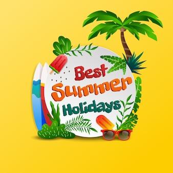 Fundo de praia tropical de férias de verão