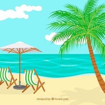 Fundo de praia tropical