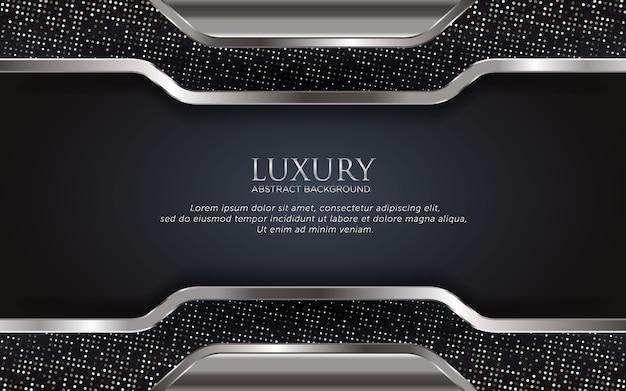 Fundo de prata modelo de luxo com glitter