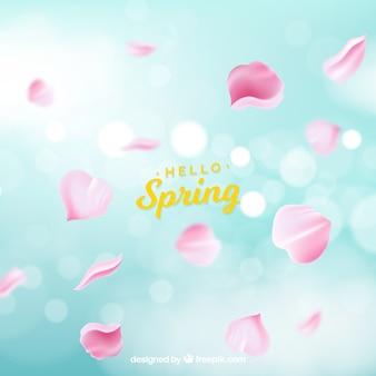 Fundo de primavera borrado