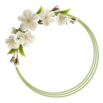 Fundo de primavera com flores brancas de cereja