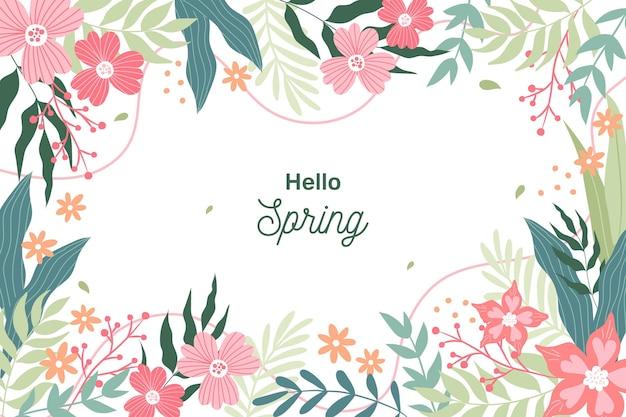 Fundo de primavera com flores