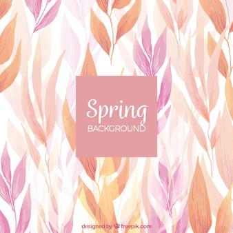 Fundo de primavera de aquarela