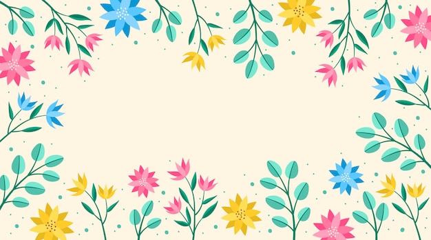 Fundo de primavera de design plano