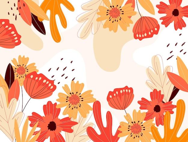 Fundo de primavera desenhado à mão