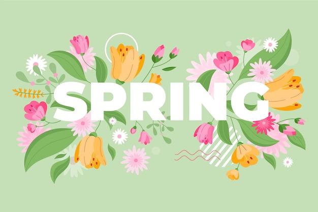 Fundo de primavera desenhados à mão