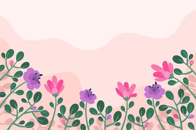 Fundo de primavera design plano