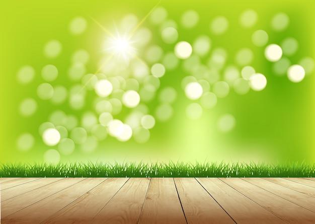 Fundo de primavera deslumbrante luz do sol quente