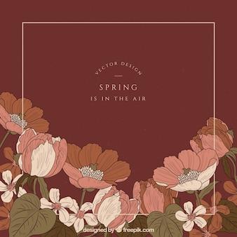 Fundo de primavera em estilo vintage