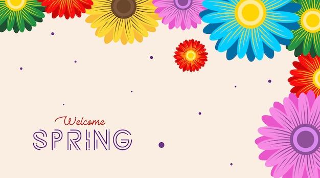 Fundo de primavera. flores de fundo de primavera