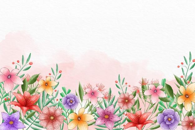Fundo de primavera pintado à mão
