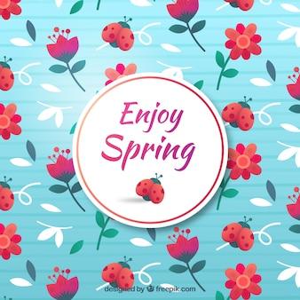 Fundo de primavera plana