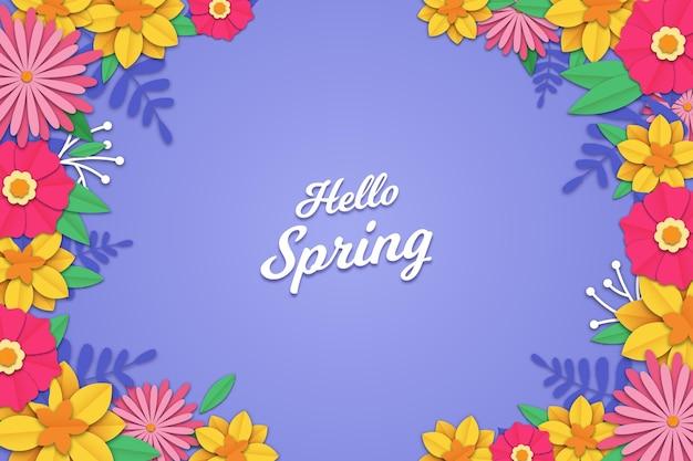 Fundo de primavera realista