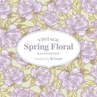 Fundo de primavera vintage