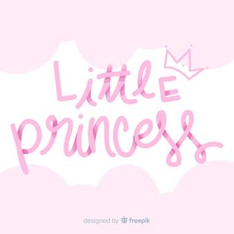 Fundo de princesa de letras gradientes