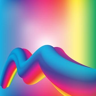 Fundo de prisma geométrico de arco-íris