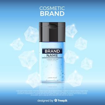 Fundo de produto cosmético