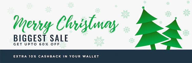 Fundo de projeto de banner de venda feliz natal